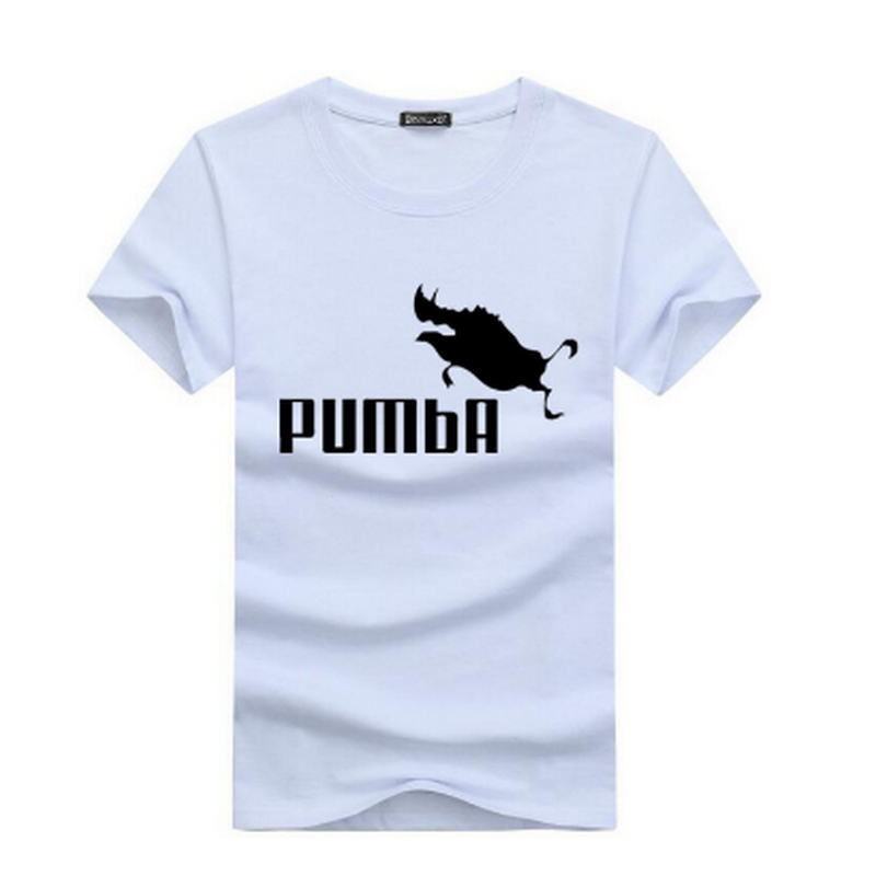 2019 funny tee cute   t     shirts   homme Pumba men short sleeves cotton tops cool   t     shirt   summer jersey costume Fashion   t     shirt