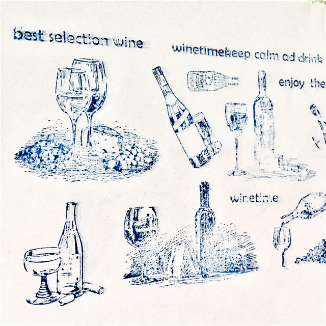 Wine bottle Silicone Clear Stamps for Scrapbooking DIY Album Card Decoration Embossing Folder Craft Rubber Stamp Molds 2019