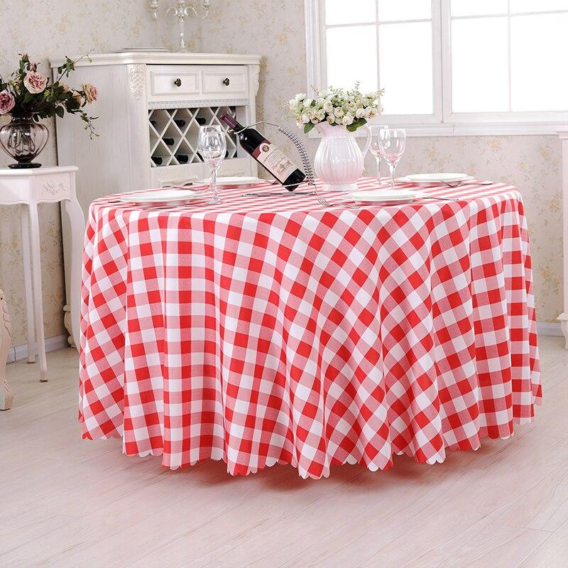Лидер продаж в шотландскую клетку круглый Скатерти Сад Пикник ткань Красный Проверьте скатерть на стол для пикника Скатерти для Кухня