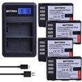 4 шт. 1860 мАч DMW-BLF19 DMW BLF19 BLF19 литий-ионный аккумулятор + ЖК-зарядное устройство USB для камеры Panasonic Lumix DMC-GH3 DMC GH3 GH4 DMC-GH4