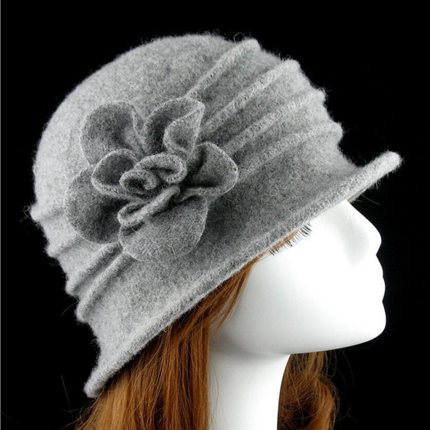 γυναικείο dome fedora 100% μαλλί καπέλο - Αξεσουάρ ένδυσης - Φωτογραφία 4