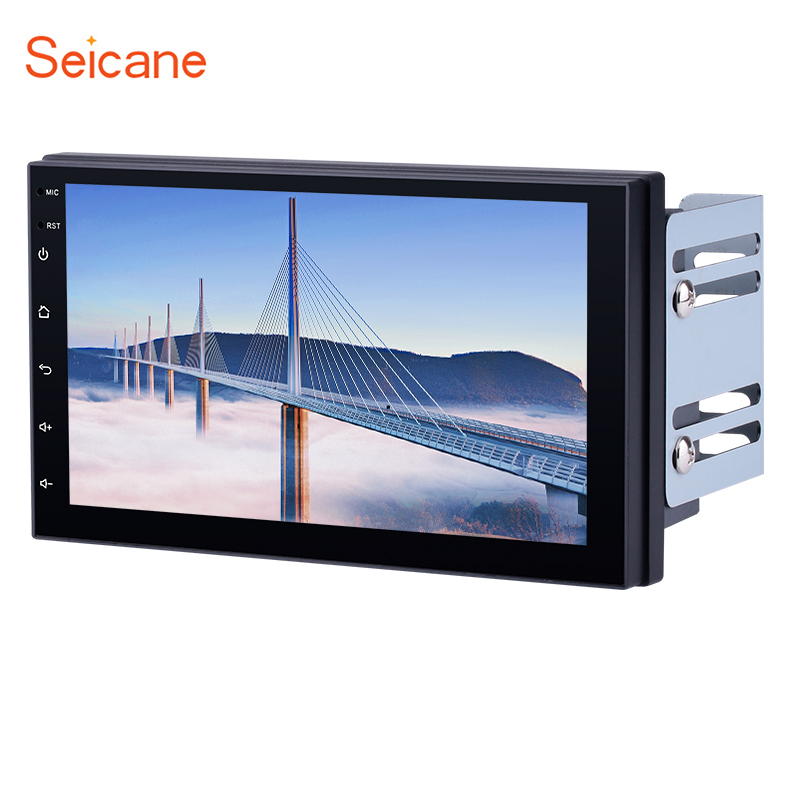 Seicane 2DIN Universal Android 6 1 7 Touchscreen WIFI Bluetooth GPS FM font b Car b