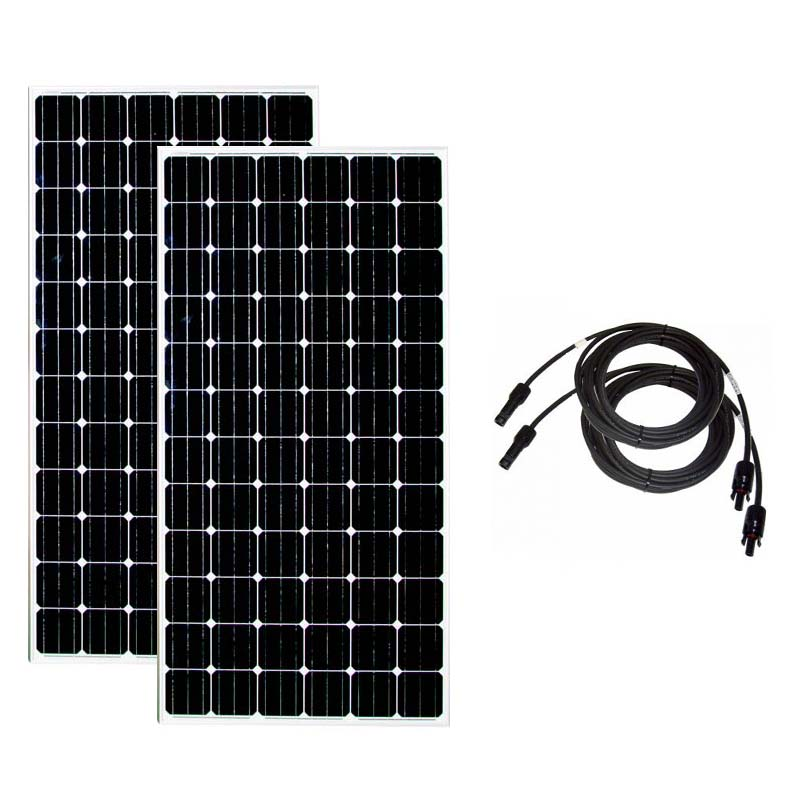 Solar Panel 24v 300w 2 PCs Solar Battery Charger Solar Home System 600w watt 10M Pv Cable RV Off Grid Boat Motorhome Caravan image