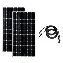 цена на Solar Panel 24v 300w 2 PCs Solar Battery Charger Solar Home System 600w watt 10M Pv Cable RV Off Grid Boat Motorhome Caravan
