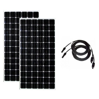 Solar Panel 24v 300w 2 PCs Solar Battery Charger Solar Home System 600w watt 10M Pv Cable RV Off Grid Boat Motorhome Caravan