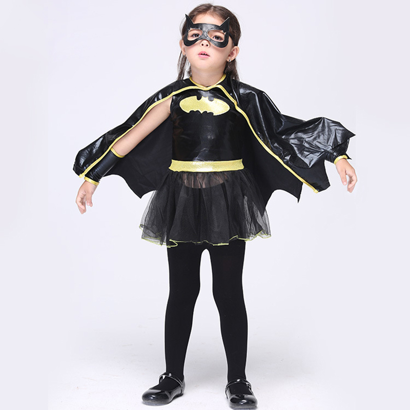 Hot Party Cosplay Bat Costume Skirt Halloween Clothes Kids Girls Game COS Princess Dresses Skirt Suit Childrens Clothing