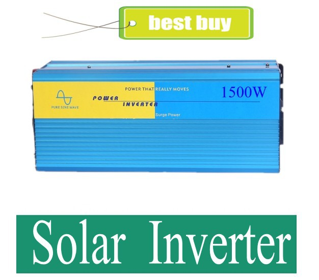 цена на 1500W Pure Sine Wave Power Inverter, Solar Inverter, DC 24V to AC 100v, Power Invertor