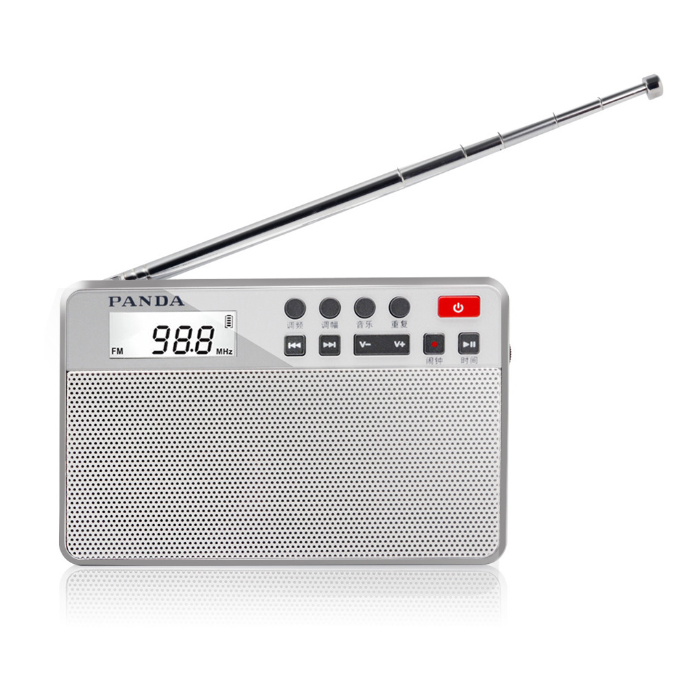 PANDA 6207 Portable The radio dual-band TF  card MP3 Player Mini Speaker box the band the band moondog matinee lp
