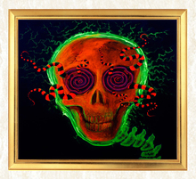 Psychedelic Skull 5D DIY Diamond Painting Full Square  Embroidery Mosaic Sale Pictures of Rhinestones Handwork