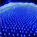 7 cores 1.5x1.5 m 96 Leds 8 modos de exibição 220 V levou net luz da corda Festival de Natal novo cerimônia de casamento luz ano