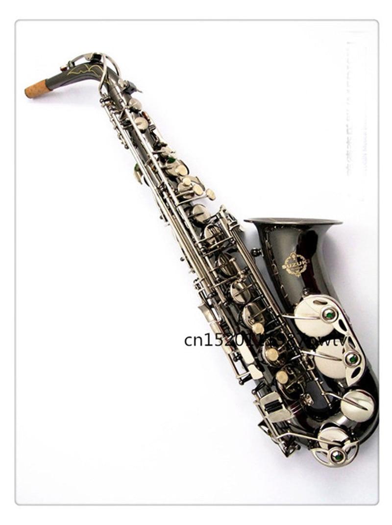Sax instruments New SUZUKI Instrument musical Alto Saxophone black nickel key E flat beginner professional grading test Free alto sax saxophone eb wind instrument sax saxophone alto western instruments saxofone musical instruments saxophone
