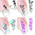 50 Hoja/Lot DIY Flor de Transferencia de Agua 3D Animal Diseño Mezclado Nail Art Tips Manicura Stickers Decals Decoración