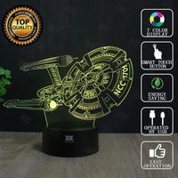 Star Wars Lamp Millennium Falcon Star Trek 3D Lamp LED Novelty Night Lights USB Light