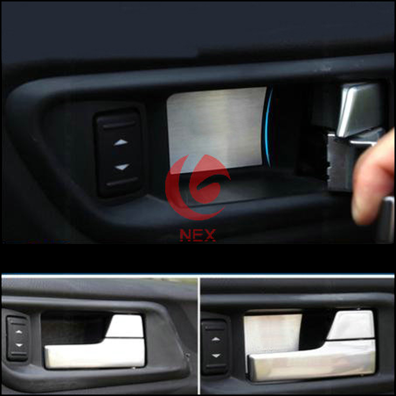 Stainless Steel Door Handle Cover Bowl Trim For Ford Focus 2 2006 2007 2008 2009 2010 2011 Sedan