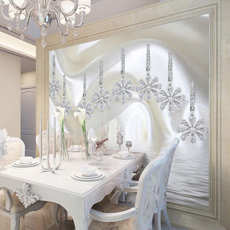 beibehang Custom 3D Wall Murals Wallpaper European Style Luxury Silk