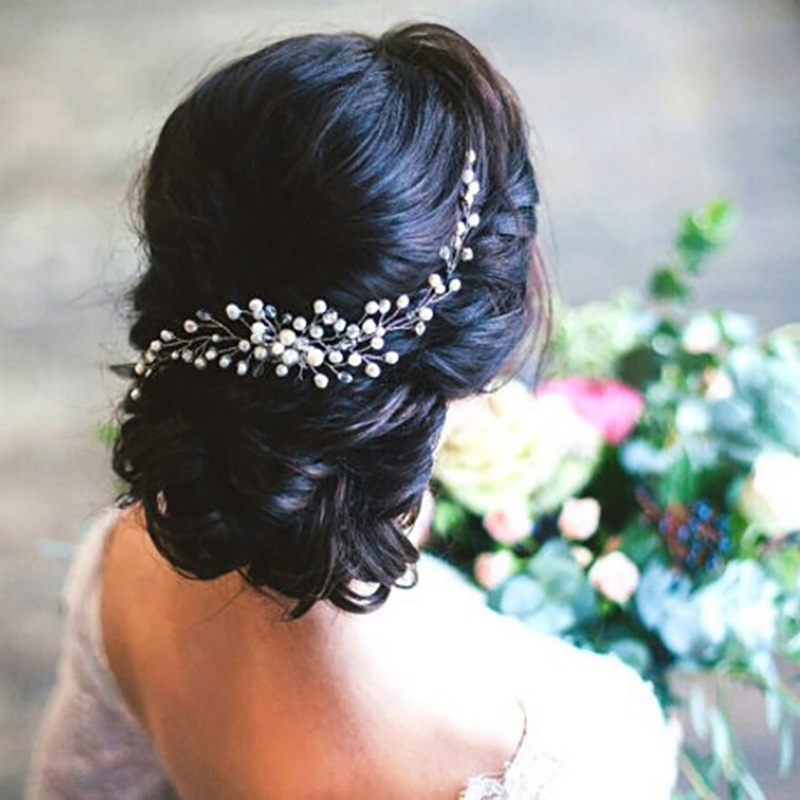 Clip Headdress-Ornaments Hair-Pins Hair-Accessories Pearl-Jewelry Bridal-Hair-Comb Wedding-Dress