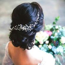 Hermoso peine nupcial para el pelo, accesorios para el vestido de boda, horquillas de Clip para el pelo para mujeres, joyería de perlas, adornos para el tocado de la novia