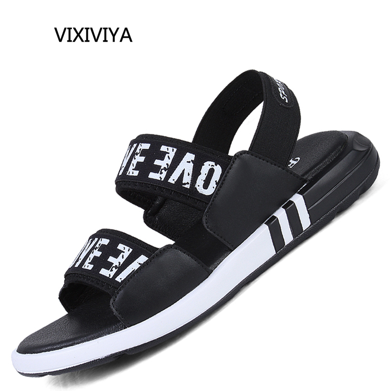 2018 new style fashion mens sandals summer casual breathable shoe man platform black shoes young students beach sandals for men