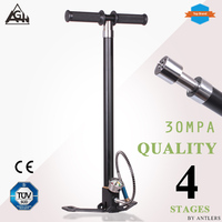 AGH 30Mpa 4500psi Air PCP Paintball Pump Air Rifle hand pump 4 Stage High pressure with filter Mini Compressor bomba not hill