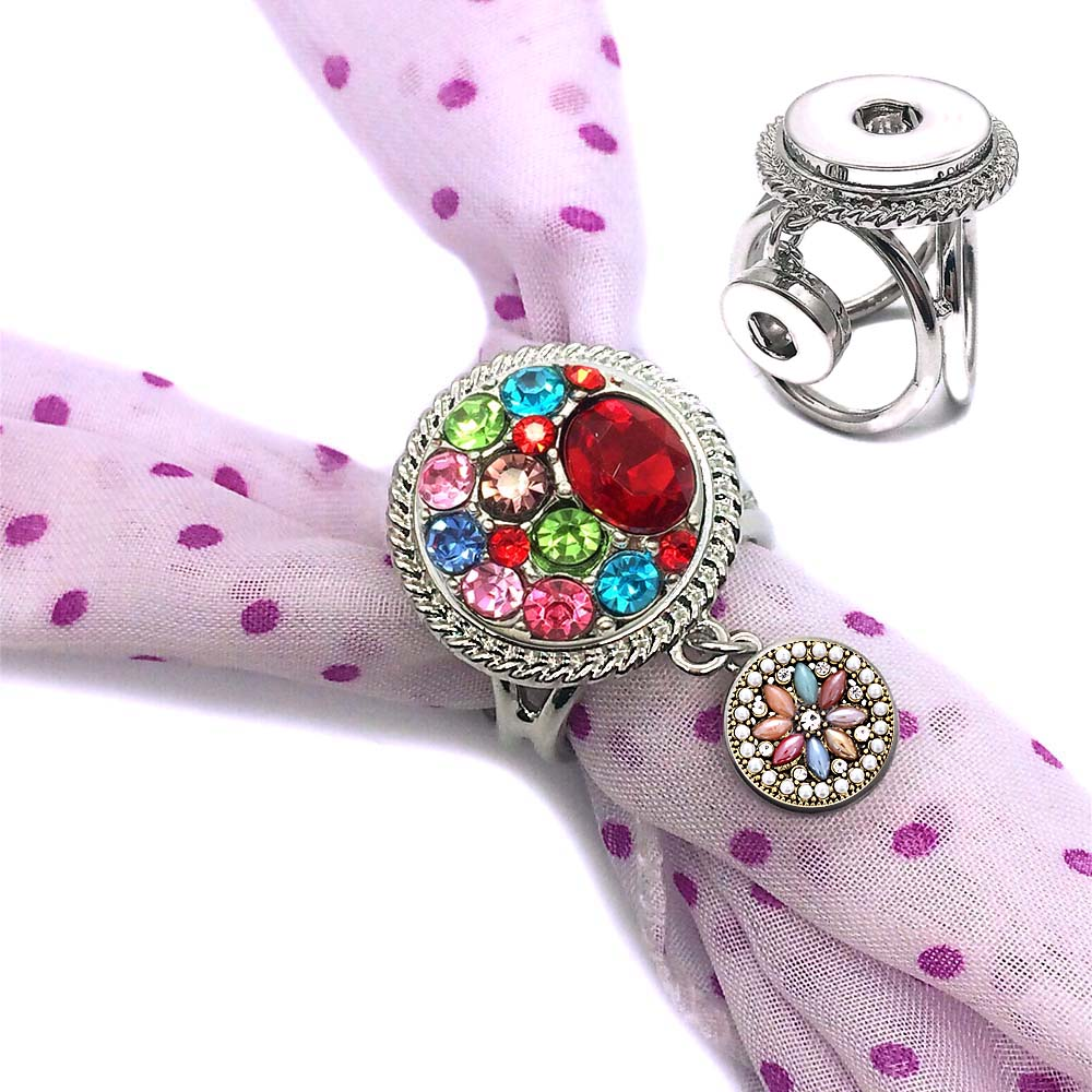 Interchangeable 001 Fashion Flowers <font><b>12mm</b></font> 18mm <font><b>snap</b></font> <font><b>button</b></font> Scarf Buckle Scarf Clips For Women bracelet <font><b>Jewelry</b></font> gift image
