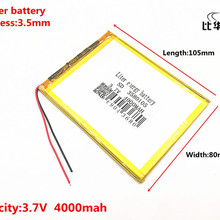 Good Qulity 3.7V,4000mAH,3580105 Polymer lithium ion / Li-ion battery for tablet PC(tablet personal computer 7 inch 8 inch 9inch