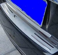 выше звезда из нержавеющей стали автомобиль задний багажник украшения потертости защитная пластина для Nissan доработанный Sylphy 2006-2010