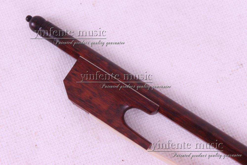snakewood 1 pcs 4/4 Violin Bow Baroque white  horsetail Straight #8++