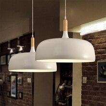 LukLoy עץ מודרני מטבח תליון הובילו אורות LED מנורת תליית מנורת סלון מנורות גופי תאורה