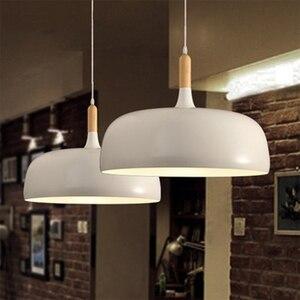 Image 1 - LukLoy lampe suspendue en bois, design moderne, luminaire dintérieur, luminaire dintérieur, idéal pour une cuisine, un salon, LED, lampe à LED