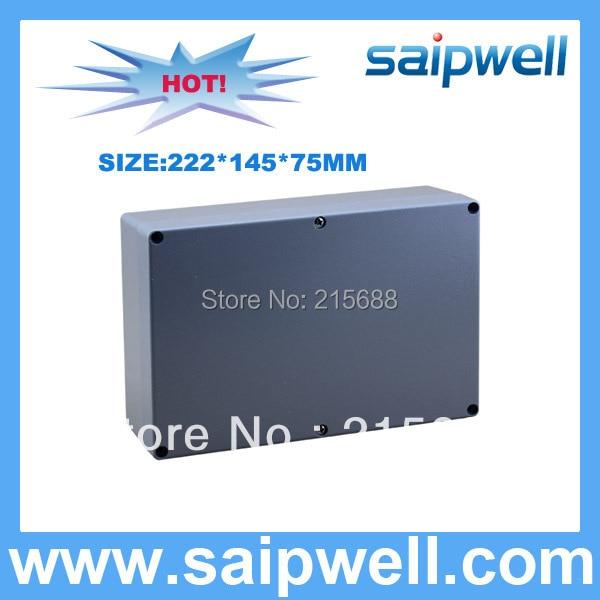 2015 High Quality IP67 Aluminum waterproof Box 222 145 75MM SP AG FA6