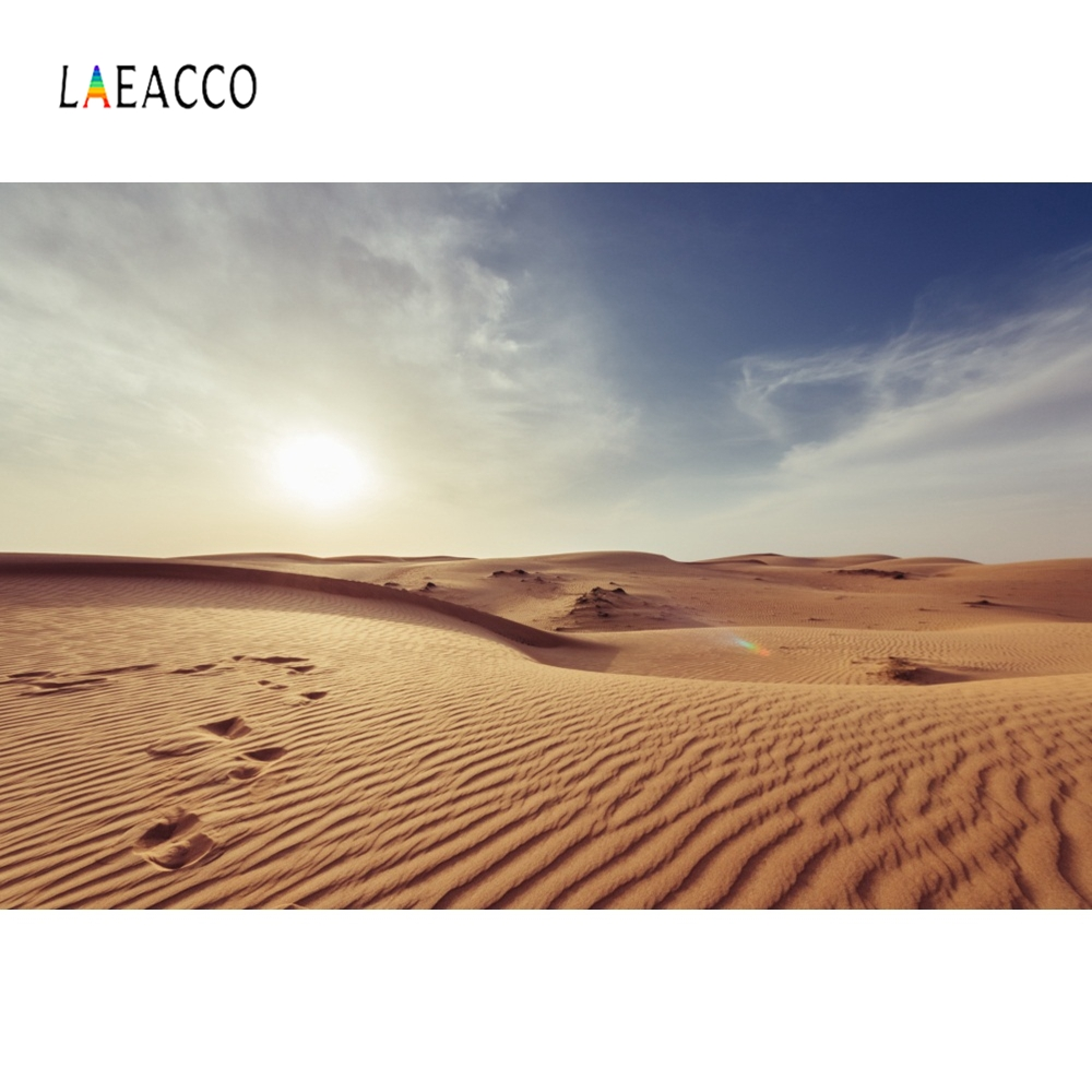 Laeacco Blue Sky Wild Desert Nature Scenic Portrait Photography Backgrounds Customized Photographic Backdrops For Photo Studio
