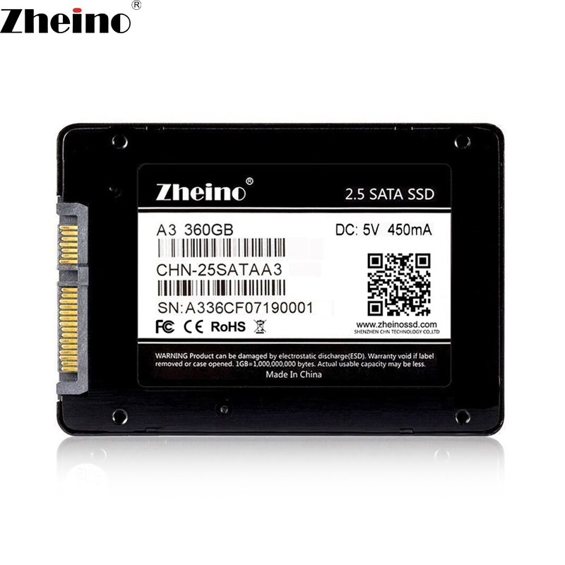 Zheino 2.5 Cal SSD sata iii 360GB A3 wewnętrzne dyski półprzewodnikowe 7mm dla laptopa pulpit PC w Wewnętrzne dyski SSD od Komputer i biuro na AliExpress - 11.11_Double 11Singles' Day 1