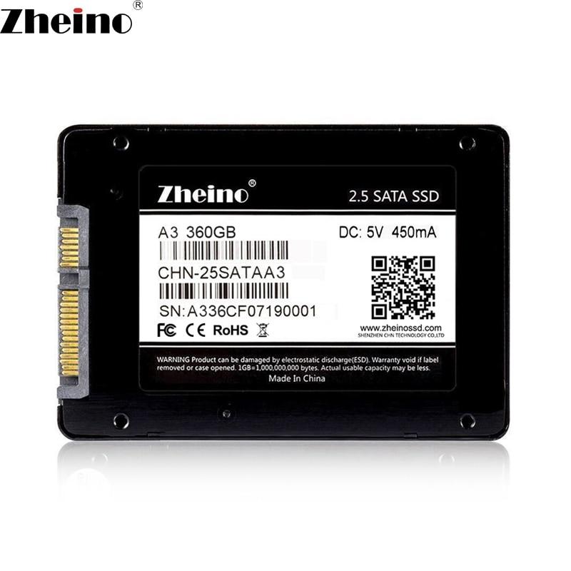 Zheino SSD SATAIII 360 GB 2,5 pulgadas interna unidades de estado sólido 7mm SSD para computadora portátil PC de escritorio