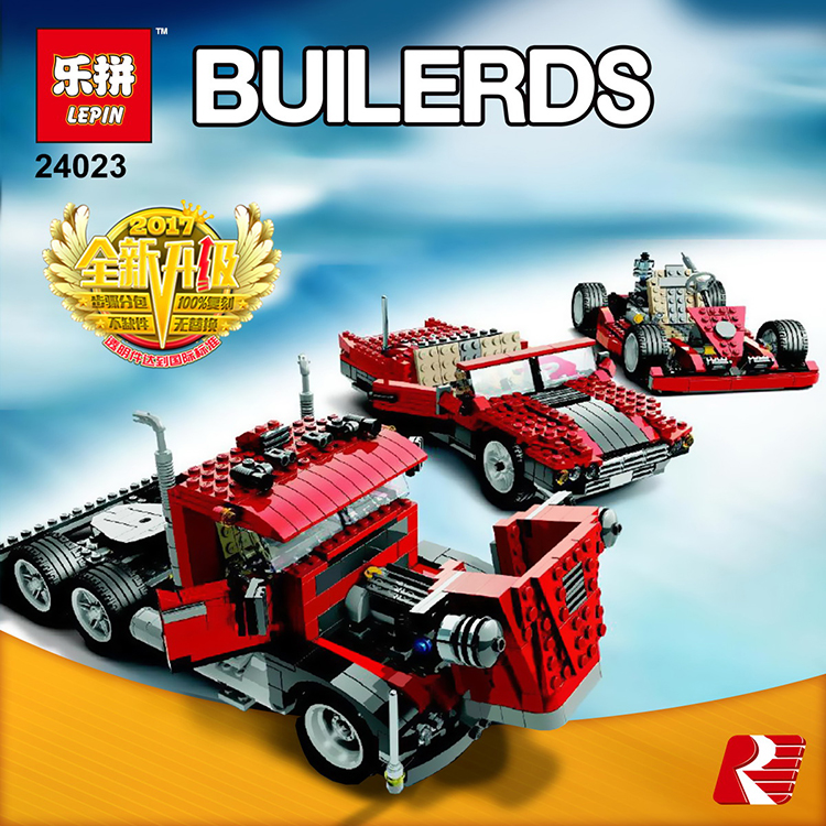 Lepin 24023 Big Rig building bricks blocks Toys for children boys Game Model Car Gift Compatible with lego gift kid set block lepin 02025 city the high speed racer transporter 60151 building blocks policeman toys for children compatible with lego