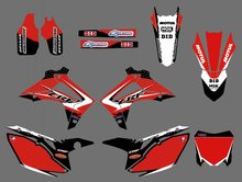 new style ( 0411 Red) TEAM GRAPHICS DECALS FOR HONDA CRF250R CRF250 2014 &CRF450R CRF450 2013-2014