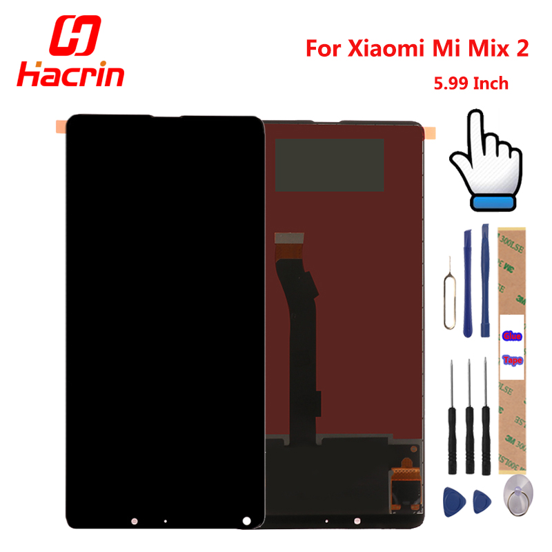 For Xiaomi Mi Mix 2 LCD Display + Touch Screen 5.99 inches Tested New Digitizer Assembly Replacement For Xiaomi Mi Mix 2