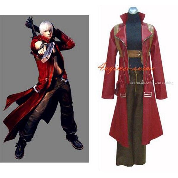 Devil May Cry 2 Dmc Dante Jacket Coat Game Cosplay Costume