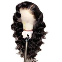 SHD Lace Front Human Hair Wigs Body Wave Wig Peruvian Lace Front Wigs Pre Plucked Remy Natural Black Wigs For Black Women