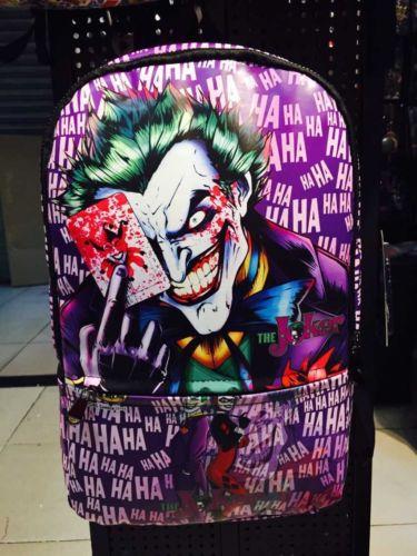 2016 Hot New DC Comics Batman Joker Backpack Fashionable Laptop Backpacks  PU Leather High Relaxation Bag School bags 7c8b37c79a0f5