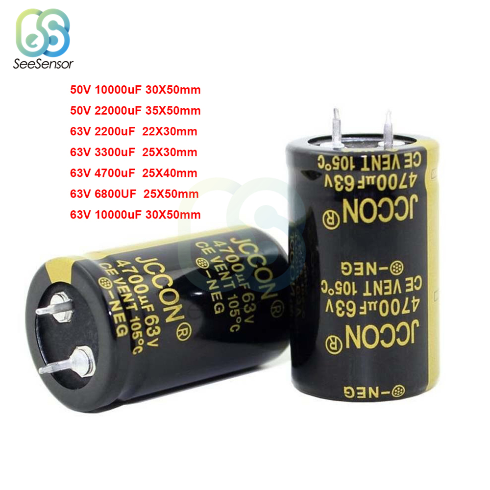 50V 63V Electrolytic Capacitor For Audio Amplifier Inverter Power 2200UF 3300UF 4700UF 6800UF 10000UF 22000UF 47000UF
