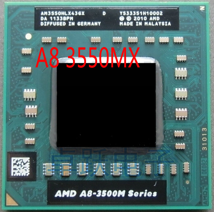 US $165 79 |Original AMD A8 Series for Notebooks A8 3550MX AM3550HLX43GX A8  3550MX Socket FS1 722 pin Laptop Mobile CPU Processor-in CPUs from