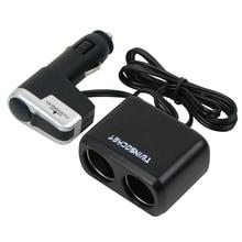 12 В USB Автомобильное Зарядное Устройство Аксессуары для Мобильных Телефонов, Авто Прикуривателя Автомобиля Адаптер Extender Splitter для iphone 4/5/6/7 Плюс