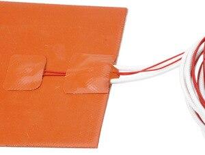 Image 5 - 3D プリンタアクセサリー 300*300 ミリメートル 220 の 12v の 750 ワットゴムホットベッドシリカゲル加熱パッドの加熱プレート