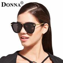 DONNA Polarized Sunglasses Women Gradient Mirrored Glasses Cat Eye Plastic Hipster Gorgeous Sun Glasses Look Stylish D42