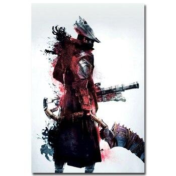 Шелковый Плакат Гобелен Игра Bloodborne Вариант 6 в ассортименте