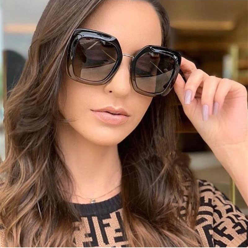 4d2093a0fa8 Luxury Oversized Sunglasses Fashion Woman 2019 Square Vintage Glasses  Ladies Black Sunglasses For Men Celebrity glasses