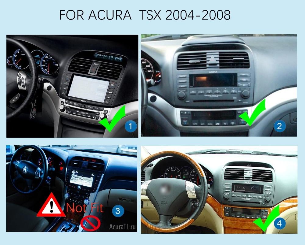10.1 pouce Android 6.0 autoradio stéréo pour Acura TSX 2004-2008 GPS Navigation Support commande au volant tactile complet 1024*600 - 2