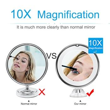 Makeup Vanity Mirror With 10X Lights LED mirror light LED makeup mirror with led light зеркало для макияжа espejo de maquillaje 4