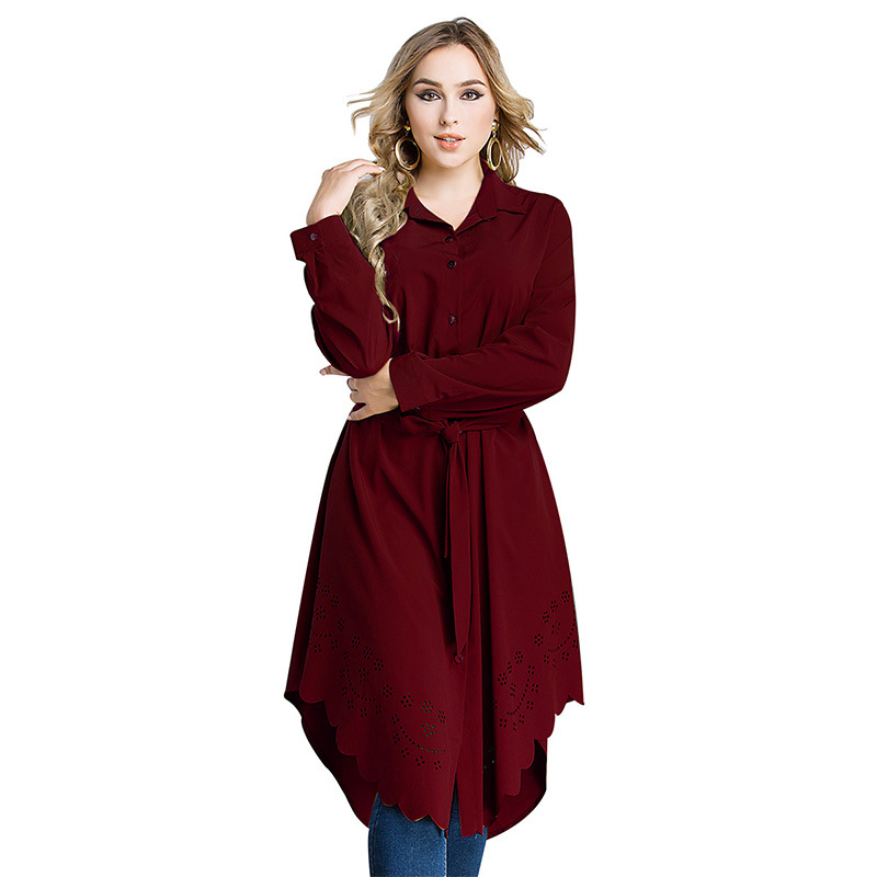 Arabic Women Dress Loose Belted Robe Femme Islamic Clothing Cardigan Malaysia Turkish Pakistani Fashion  Plus Size Muslim Dress (4)