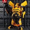 Figuras de acción robot coche genuino 45 cm juguetes transformación optimus prime bumblebee robots modelo movie 4 diamond juguetes clásicos